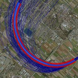 Dispersion of SPIJKERBOOR departure from runway 24