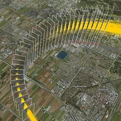 Visualisation of measurement gates in analysis of flight performance